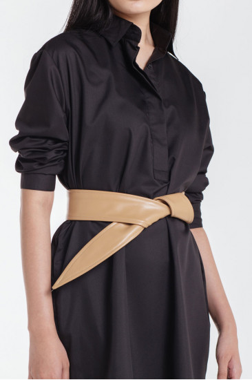 Solange Leather Belt in Black