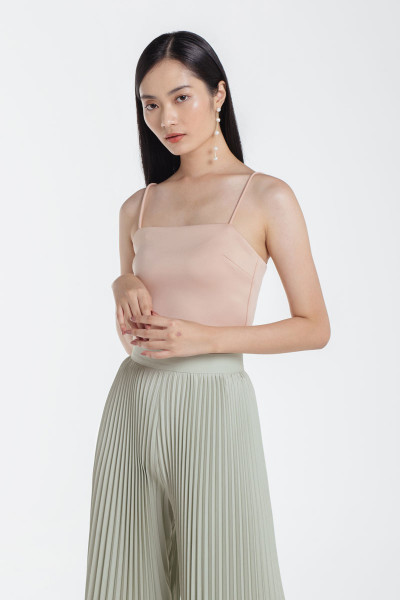 Camille Crop Top in Nude