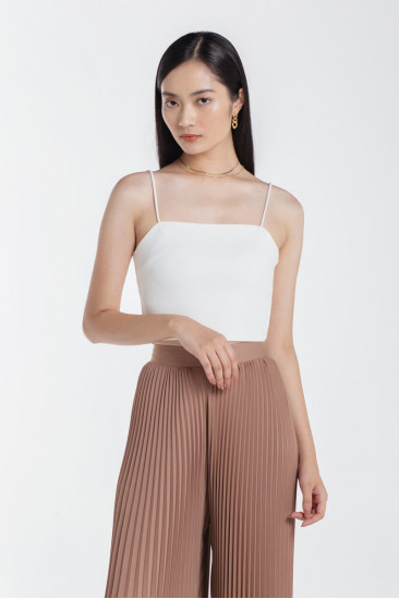 Camille Crop Top in White