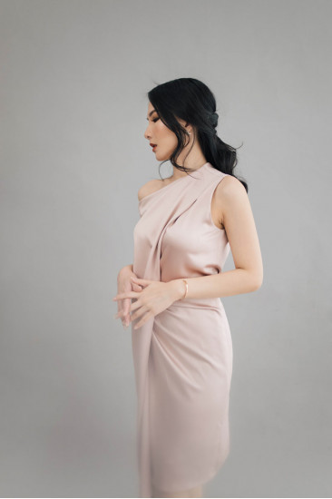 Marjorie Dress in Blush
