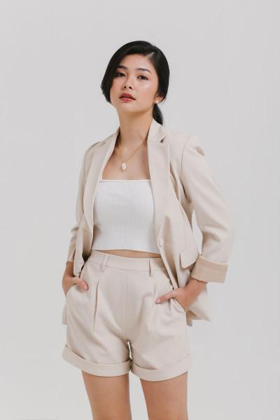Femme Blazer and Shorts Set