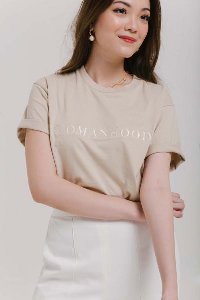 Womanhood T-shirt in Oat