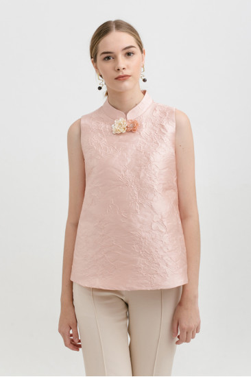 Camellia Top in Rose