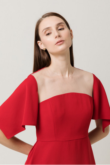 Margaux Top in Ruby Red
