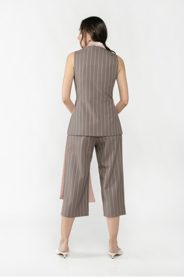 Layn Pants in Charcoal Stripes