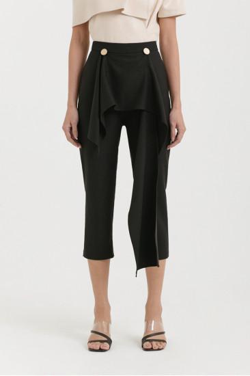 Juno Draped Pants in Black