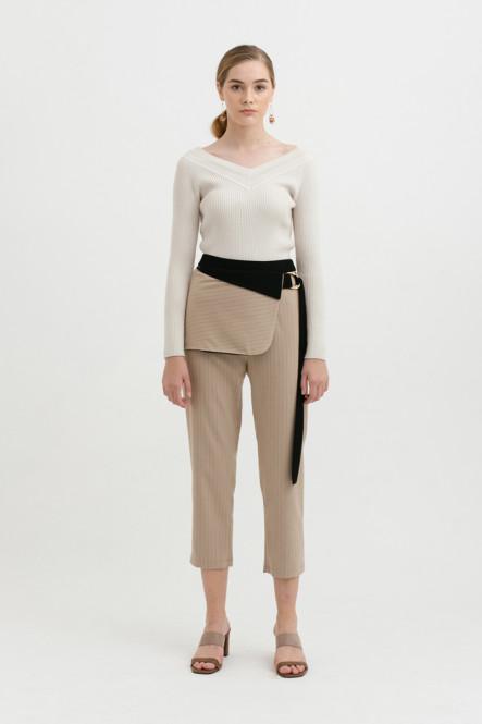 Anderson Pants in Latte Stripes