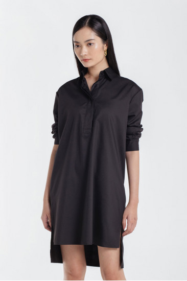Faith Basic Shirt Dress in Lavender