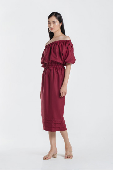 Morgan Dress in Cherry