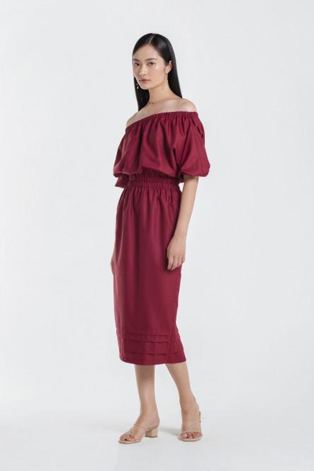 Morgan Dress in Cherry