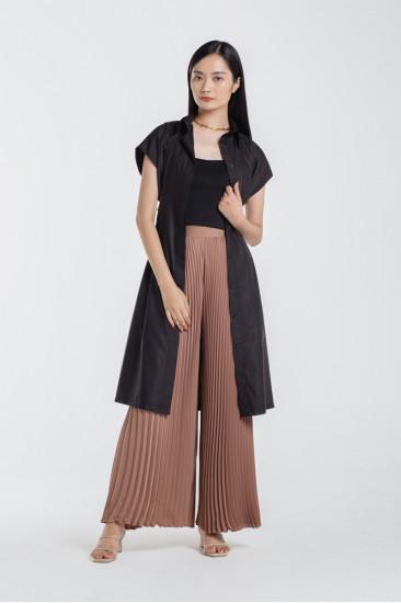 Devin Shirt Dress in Black