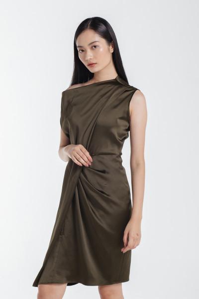 Marjorie Dress in Olive