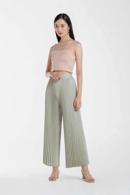Paige Pleated Pants in Pistachio