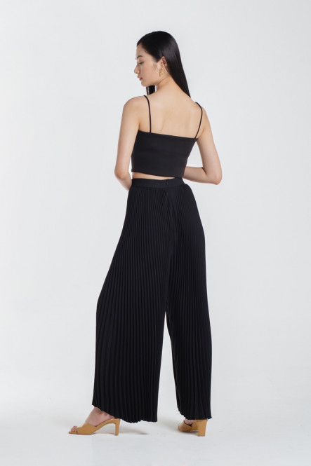Paige Pleated Pants in Black